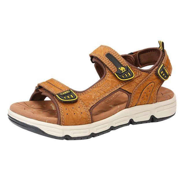 Camel Crown Unisex Leather Beach Sandals