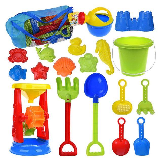 Fun Little Toys Water Wheel Molds Shovel Beach Toys