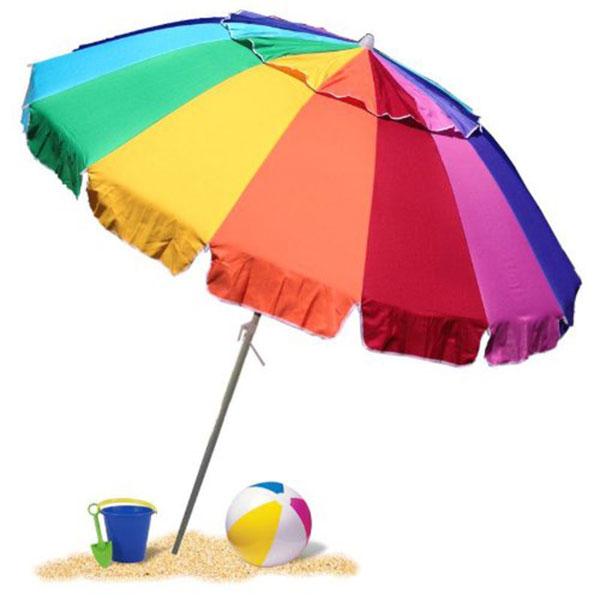 Giant Rainbow Sand Anchor Beach Umbrella