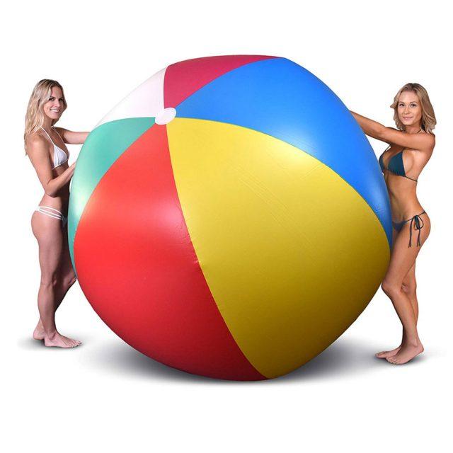 GoFloats Giant Inflatable Jumbo 6-Foot Beach Ball