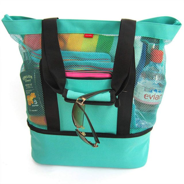 Odyseaco Aruba Zipper Mesh Tote Beach Bag