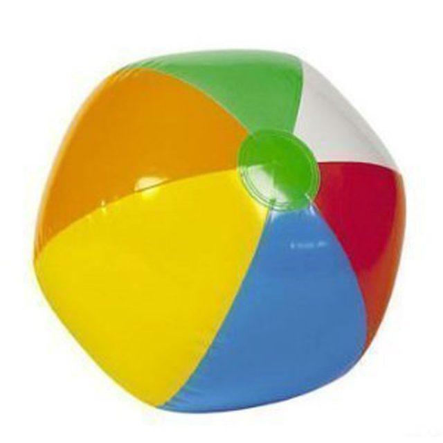Big Mo 12-Pack Inflatable 16-Inch Rainbow Beach Ball